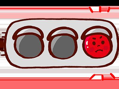 赤信号のイラスト