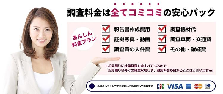 さくら幸子探偵事務所の調査料金