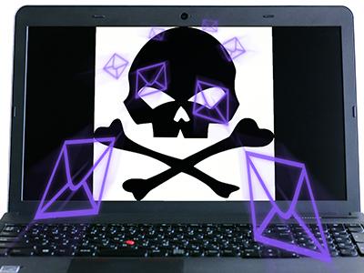 サイバー攻撃を受けてしまったノートパソコン
